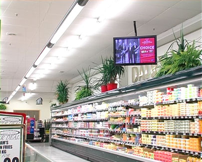 wallflower global digital signage at New World Auckland
